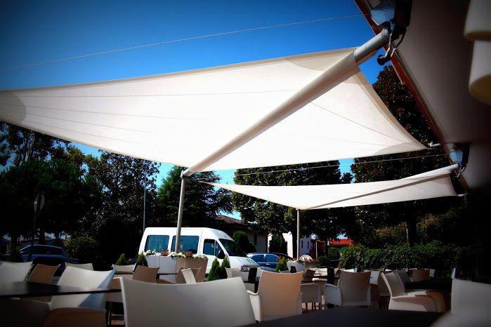Tende per ristoranti e bar e attivit commerciali - Tende a vela per esterno ...