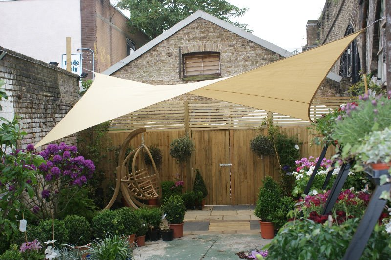 Diy Backyard Canopy Ideas : Saill ombreggiante 280 gr a 4 lembi  Maanta