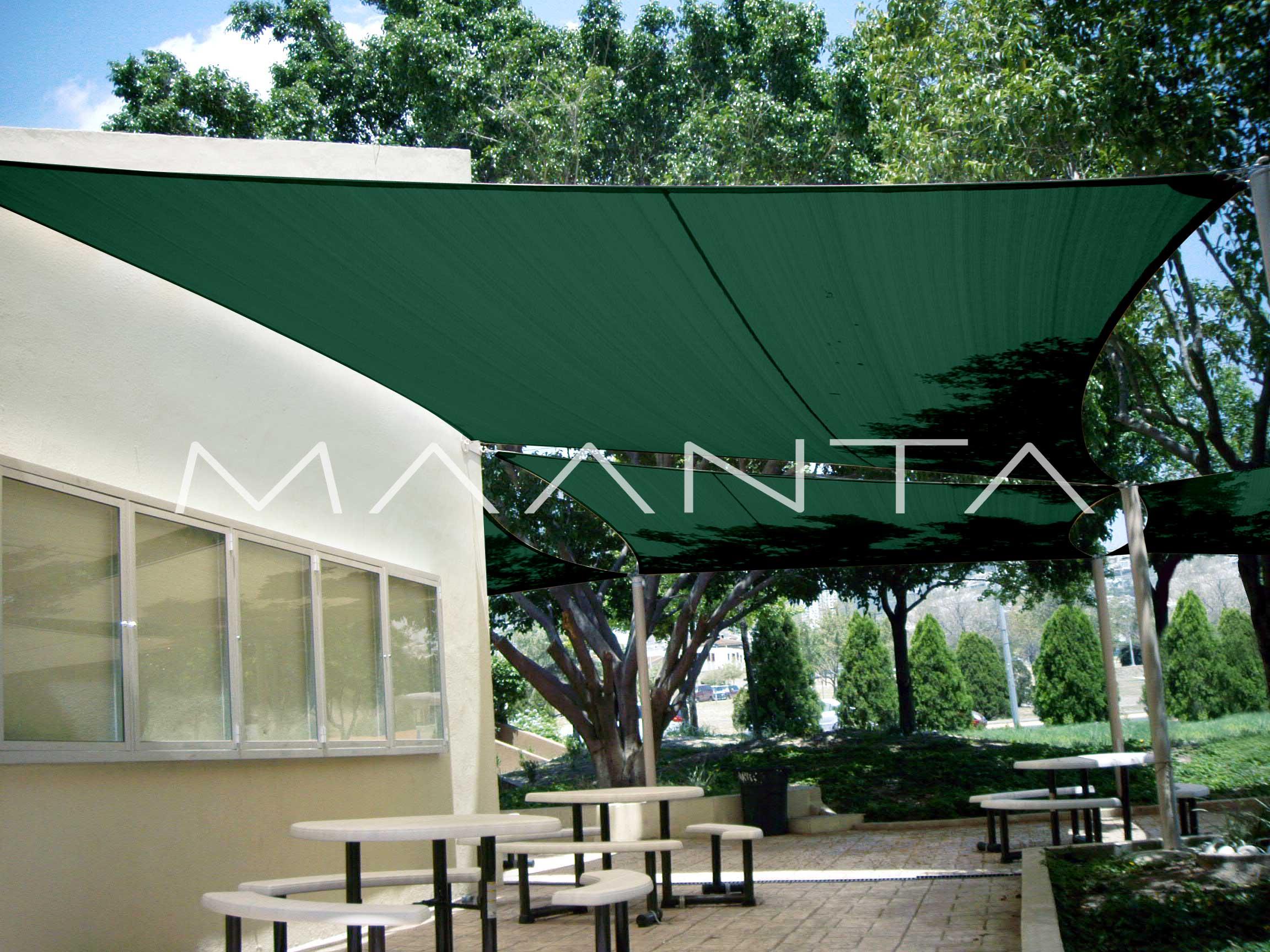 Tenda A Vela Quadrata : Vele ombreggianti per il giardino