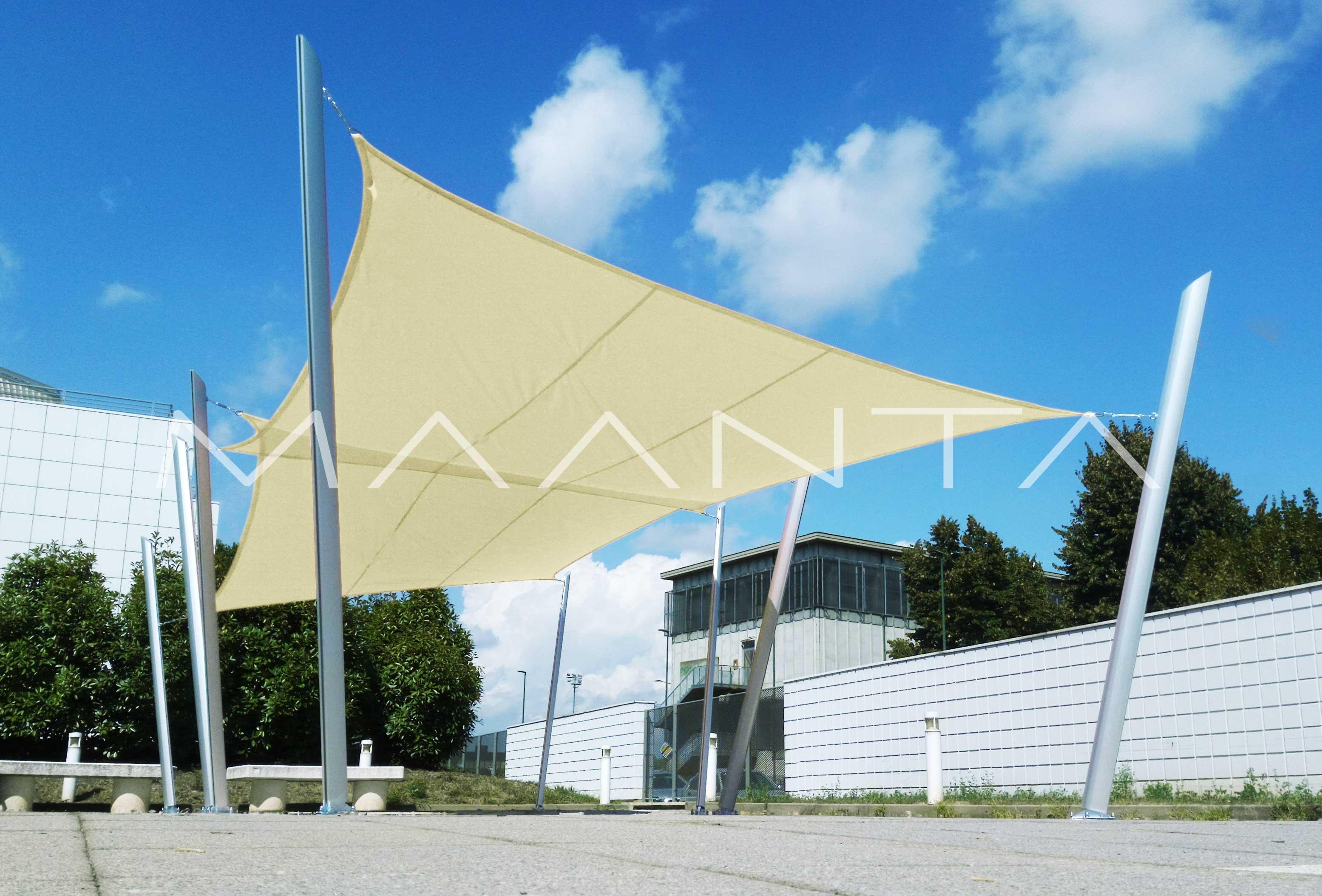 Easyshade vela impermeabile 160gr a 4 lembi maanta for Tenda a vela rettangolare