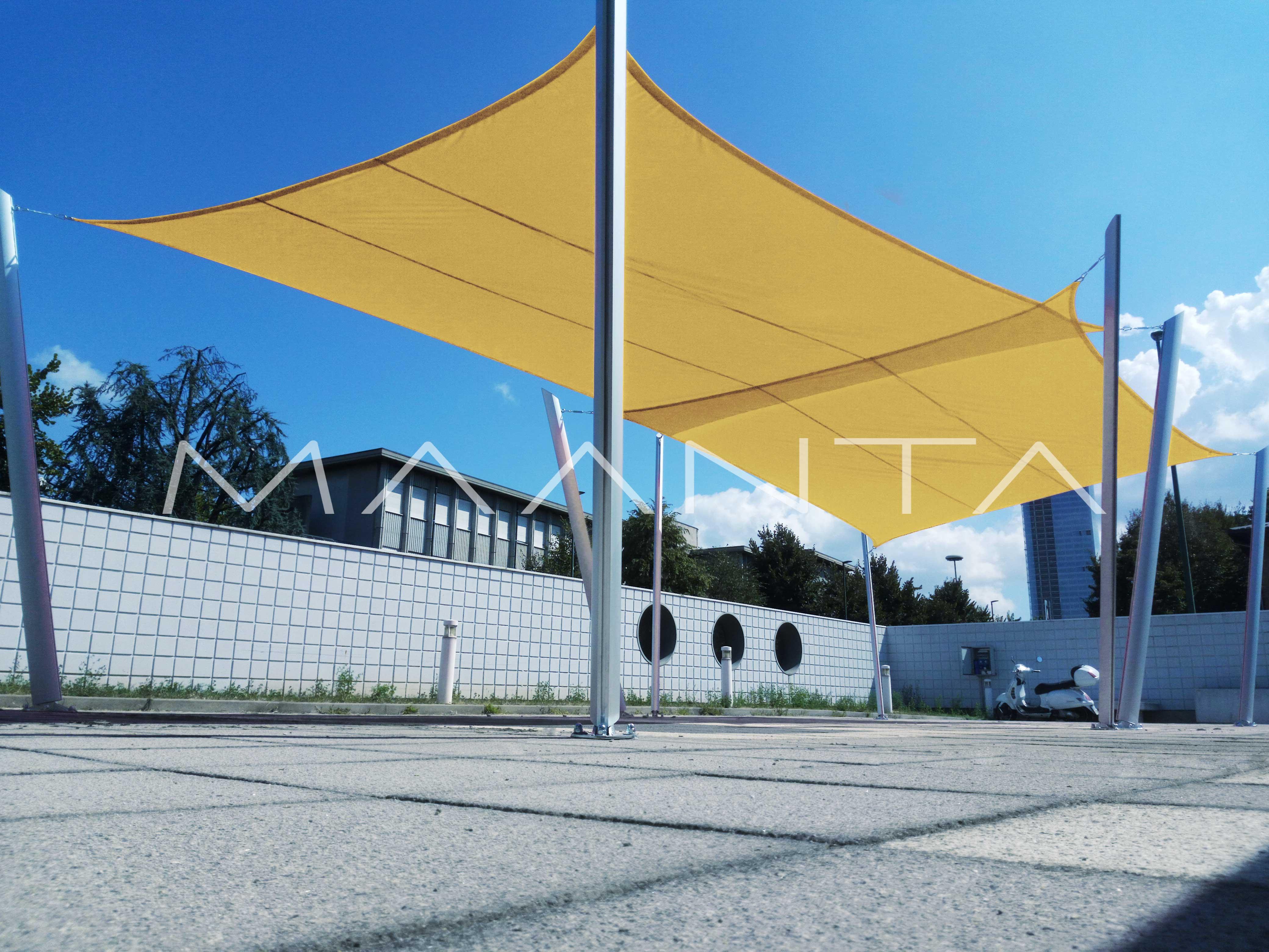 Vela Triangolare Da Giardino easyshade impermeabile quadrata (4 lembi)