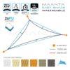vela sole triangolare impermeabile ancoraggi