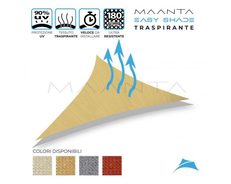 tenda a vela ombreggiante triangolare