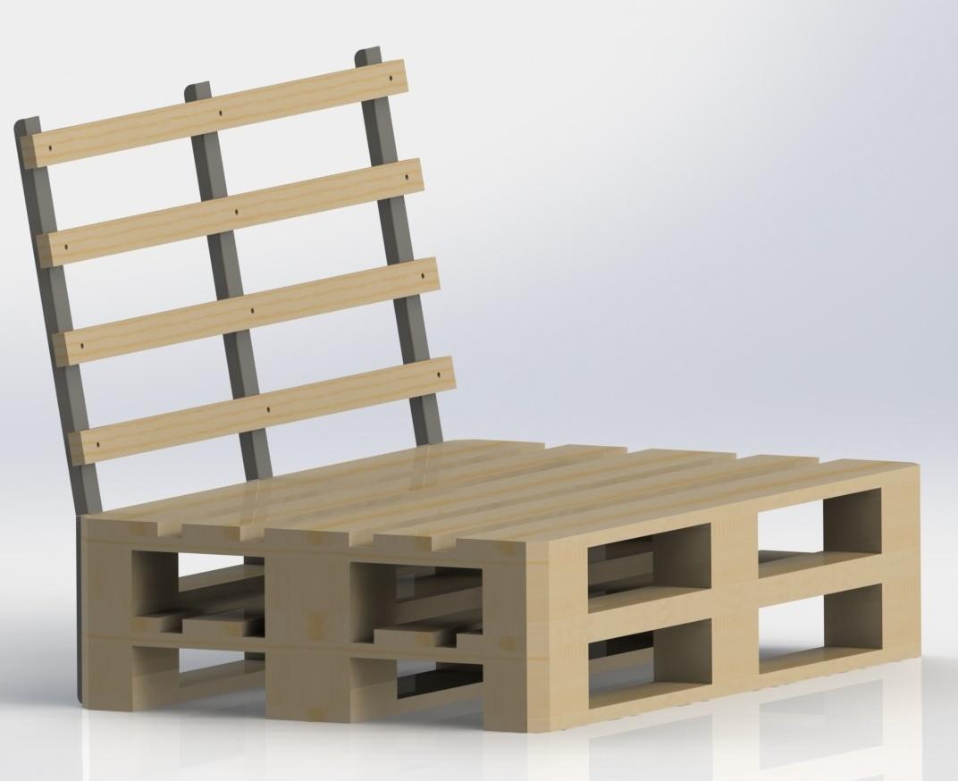 Supporto schienale divano bancali in acciaio tendevela by maanta - Divano pallet schienale ...